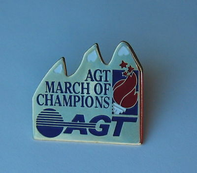 AGT March of Champions Pin Alberta Government Telephone Lapel Hat Pin