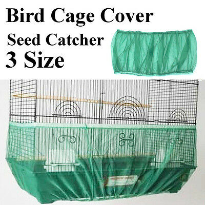 3-color White Seed Catcher Guard Mesh Bird Cage Case Cover Skirt Traps Cage