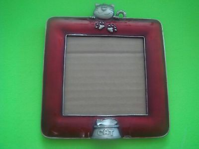Glass Cat Picture Frame