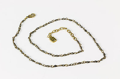 Original Waxing Poetic,silver pyrite/brass necklace*Answer Chain*, 40cm+ext.cM22
