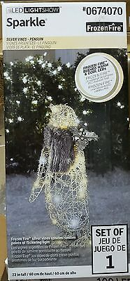 NEW- Gemmy Lighted Penguin Outdoor Christmas Decoration White LED Lights