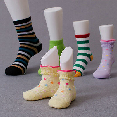 Hard Plastic Child Feet Mannequin Foot Model Tools for Shoes Sock Display LD