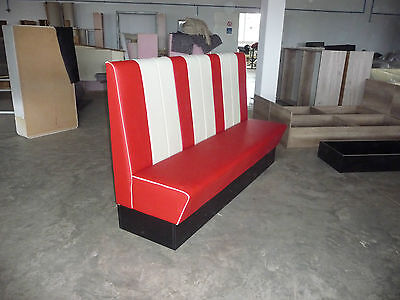 Restaurant seating, dinner seating, barber shop, booth bench