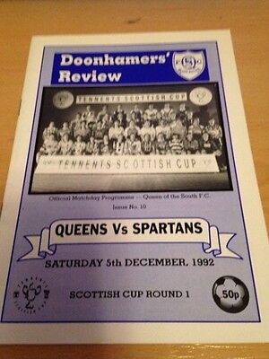 1992/93 Queen Of The South V Spartans - Scottish Cup