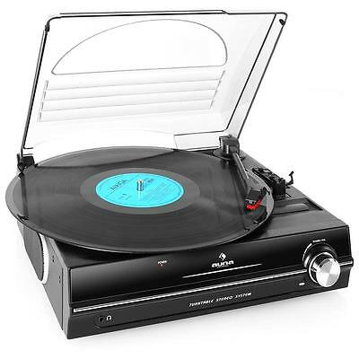 Auna 928 Classic Vinyl Record Player Home Stereo Speaker Sound System Belt Drive