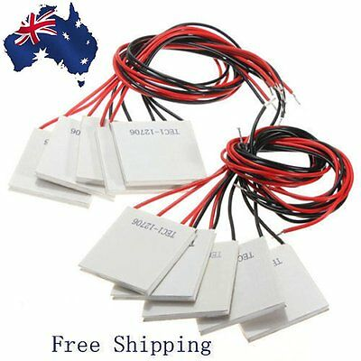 10X 12V 60W TEC1-12706 Heatsink Thermoelectric Cooler Peltier Cooling Plate ZG
