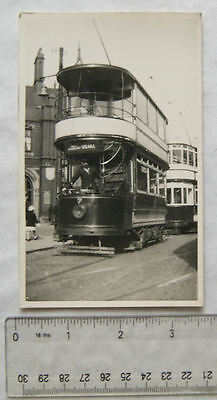 Photo Stockport Tram no.7 at Mersey Square in 1932