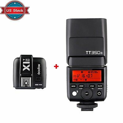 US Godox Mini TT350S 2.4G Flash Speedlite + X1T-S Trigger Kit Fr Sony Mirrorless