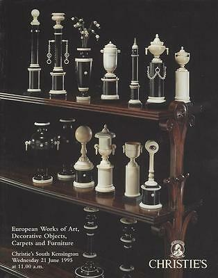 Christie's Catalog European Works Of Art Decorative Furniture 21 June 1995
