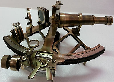 Nautical Reproduction Ship Navigation Sextant Vintage Brass Navy Working Sextant