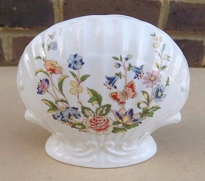 AYNSLEY Cottage Garden Clam Shell Shaped Vase (2nd Quality)