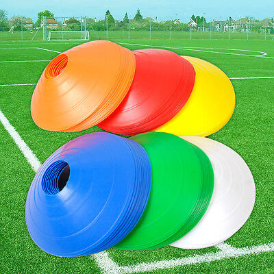 New Set of 10 Space Markers Cones Soccer Football Ball Training Equipment RD