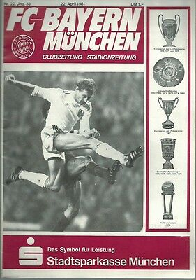 EUROPEAN CUP SEMI FINAL 1981: Bayern Munich v Liverpool