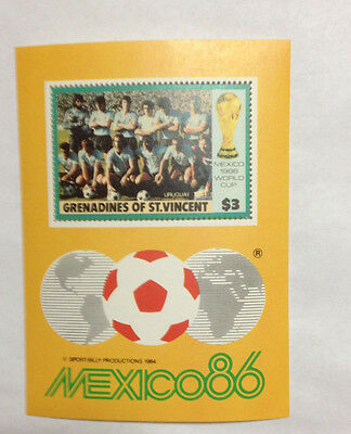 Grenadines of St Vincent $3 minisheet MNH Mexico World Cup 86 photos f/b.