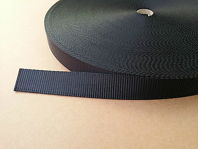 25mm / 2.5cm / 1 inch THICK HEAVY Webbing / Strapping 1 - 25 METRE LENGTHS