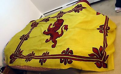 Old royal standard of Scotland pre 1960's? LION RAMPART FLAG/ BANNER unusual