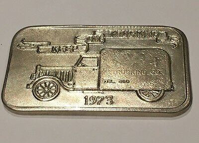 Super RARE Keep On Trucking Ajax 1 Troy Oz .999 Fine Silver Vintage Scarce Bar