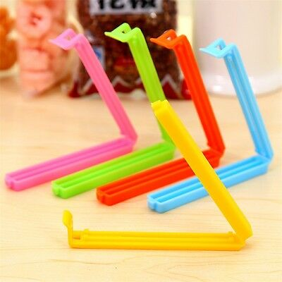 5pcs Food Snack Storage Seal Sealing Bag Clips Sealer Clamp Plastic Tool #A