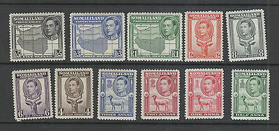 Somaliland Protectorate, 1938 Set Of 11 Mh