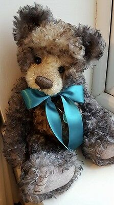 Charlie Bears Fenton Long Retired & Hard To Find One Of A Kind Bow & Necklace!!