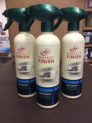 3 x Turtle Wax Perfect Finish Insect Remover 500ml Job Lot Joblot Spray Clean