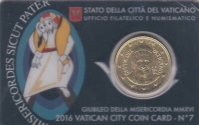 Vatican City 50 Cents Coin Card No 7 Mint Sealed