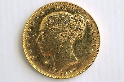 1844 Gold Sovereign Coin Victoria Full