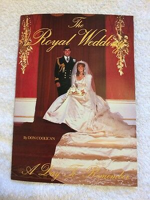 Royal Wedding Day Souvenir Book, Coolican, D Paperback Book Prince Andrew Fergie