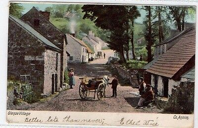 Glencoe Village Co antrim Horse and cart Irish