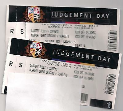 Tickets with stubs from 25 April Judgement day at Cardiff - all 4 Welsh regions
