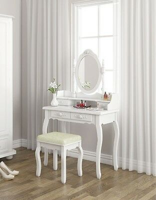 Stylish make up table with mirror and stool!!! Bargain