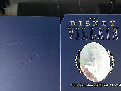 The Disney Villain Book. Limited, numbered & signed Frank Thomas Ollie Johnston