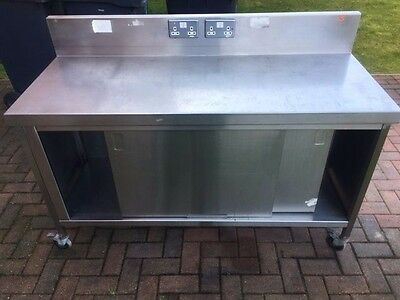 Stainless Steel Bench with cupboards and plug sockets