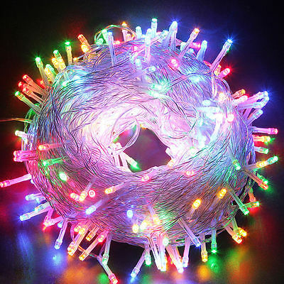50/100M LED String Fairy Lights Garden Outdoor Christmas Party Wedding 4 Colors