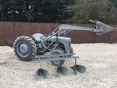 Ferguson T20 Tractor With Loader Bucket & Plough And Ridger