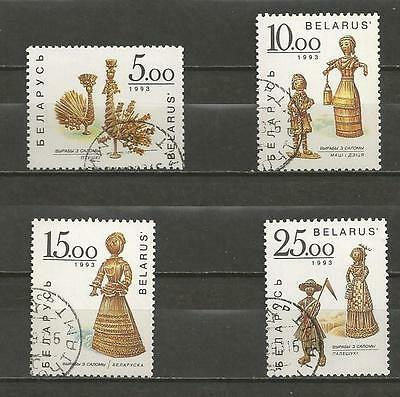 BELARUS -1993 Straw Figures - USED SET COMPLETE..
