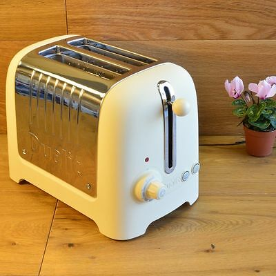 Dualit 2 Slice Lite Toaster,  Cream & Stainless Steel Brand New Boxed FREE GIFTS