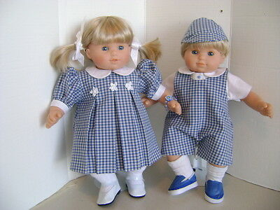 """Handmade """"Looking for Spring"""" Outfits for Bitty Twins"""