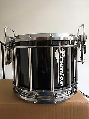 "Premier 14"" x 12"" Revolution Series Marching Snare Drum in Ebony Black Lacquer"