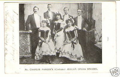 Mr.Charles Parkers Aeolian Opera Singers Vintage Real Photographic Postcard 1903