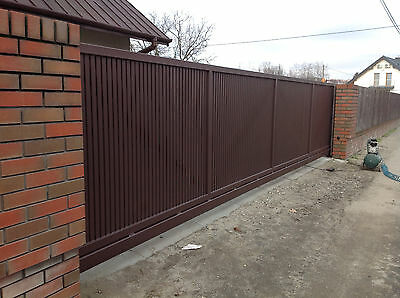 Industrial commercial iron sliding cantilever befold gates by Celeb Iron Gates