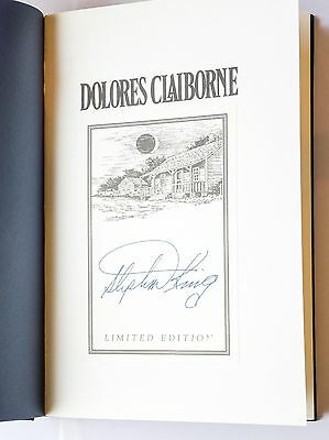 Stephen King's Dolores Claiborne, signed limited edition