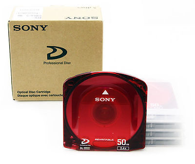 (BOX OF 5) Sony PFD-50DLA XDCam 50GB Dual Layer Discs