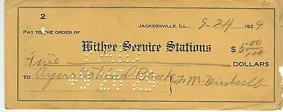 1929 Ayers National Bank, Jacksonville, IL Check