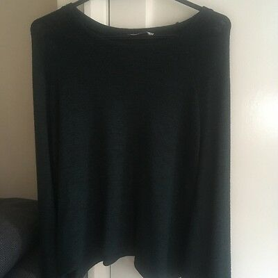 Pull And Bear Green Batwing Jumper
