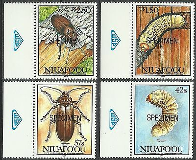 Tonga Niuafo'ou Insectes Scarabees Horned Beetles Kafer ** 1991 Surch Specimen