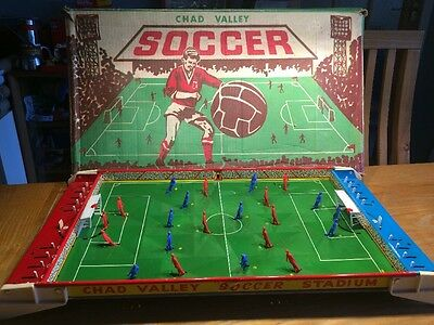 Vintage 1950s Chad Valley Tin 'Soccer' Game - Working with Original Box