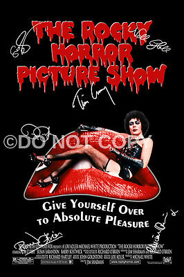 The Rocky Horror Picture Show Cast Tim Curry Signed Autographed Reprint