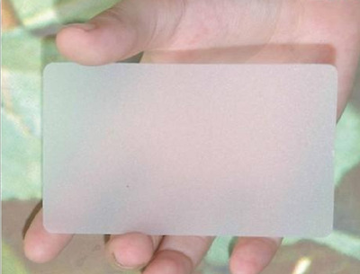 500 BLANK Frosted Transparent PLASTIC PVC Round Corner Business Cards