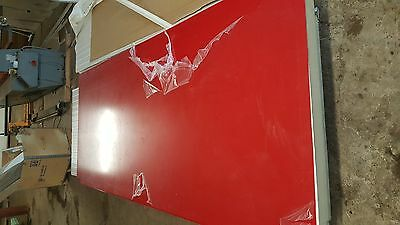 Discounted/slightly damaged red PVC 10 x 4 x 2mm sheet